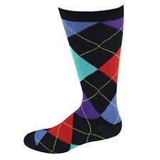 SOCKSMITH Mens' Novelty Crew Socks SLO Black Argyle
