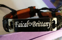 Personalized Customized Leather Bracelet with Any Name Free Engraving