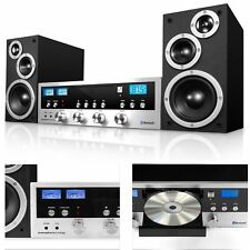 CD Bluetooth Stereo System Home Speaker CD Player FM Radio Jack Headphone Aux-In