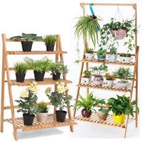 3-Tier Hanging Plant Stand Planter Shelves Flower Pot Organizer Storage Rack