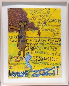 Outsider Painting   Sam Gant  Contemporary Basquiat  Expressionist style Framed