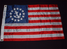 """Nautical , Yacht Ensign Flag 20"""" x 30"""" Embroidered"""