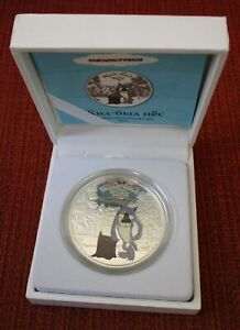Cook Islands 2011 Silver 1oz Proof Coin Dog $5 Dollar Soyuzmultfilm