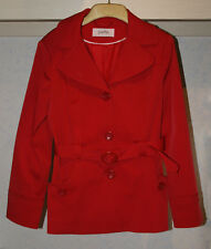 LADIES SMART RED SHORT FITTED RAINCOAT FROM BHS SIZE 12 PETITE (FITS SIZE 8-10)