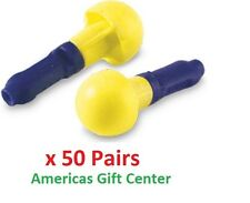 50 Pairs 3M Earplugs Push-to-Fit Foam  E-A-R Plug Push-Ins Uncorded Earplugs