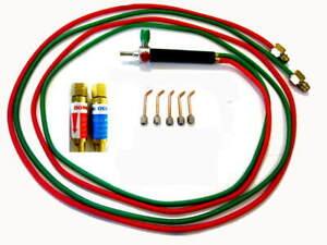 Oxygen/ Acetylene Jewelers' Mini Torch W/Tips & Flashback Arrestors, Fits Smith