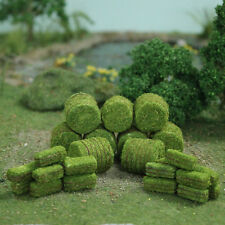 MP SCENERY 30 Green Hay Bales HO Scale Architectural Model Farm Railroad Layout