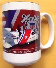 U.S. COAST GUARD HC-144A OCEAN SENTRY AIRPLANE COFFEE MUG, AERO SIMULATION, NEW
