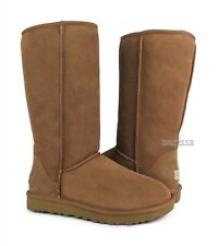 UGG Classic Tall II Chestnut Suede Fur Boots Womens Size 6 *NIB*