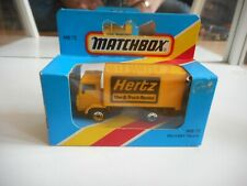 """Matchbox Delivery Truck """"Hertz"""" in Yellow in Box"""