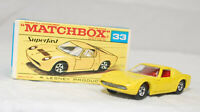 MATCHBOX SUPERFAST - SF-033A VER 1, LAMBORGHINI MIURA, YEL, RED INT JB2529