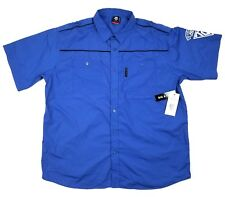 NWT ECKO UNLTD BLUE DRESS BUTTON FRONT SHIRT SIZE 3XB 3XL 3X $50