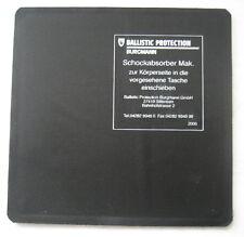 Schockabsorber vorn Fa.BURGMANN , 20 x 20 , für ballistische Schutzwesten