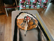 Vintage NATIVE AMERICAN NORTHERN PLAINS INDIAN MEDICINE MAN LEATHER SHIELD