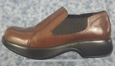 Dansko Dark Brown Size 40(size 9.5US)Womens Casual Mules Brown Slip On Shoes
