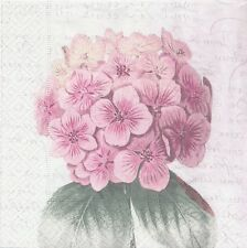 2 Serviettes en papier Hortensia Decoupage Paper Napkins Hydrangea Sagen Vintage