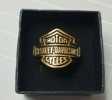 Harley Davidson Bar & Shield Stainless Jewelry Ring With Box *USA*