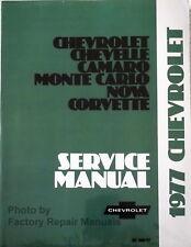 1977 Chevy Camaro Corvette Impala Malibu Nova Factory Service Manual Shop Repair