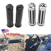 "1"" 25mm Motorcycle Skull End Handle Bar End Hand Grips for Harley Honda Bike"