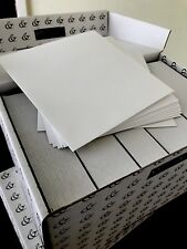 50 Envelopes 185 X 185 mm 135gsm White Textured Made In France Peel + Seal