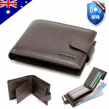 RFID Blocking Genuine Leather Wallet Slim Mens Purse Bifold Credit Card Holder