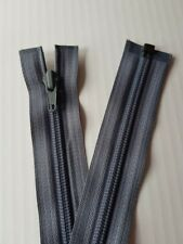 """Grey Zip Zipper Open End Heavy Duty  Zip 28"""" 71 cm No5 YKK"""