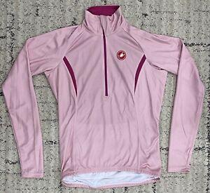 Castelli Cromo Long Sleeve Women's Jersey in Old Rose/Magenta - Size M