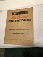 WISCONSIN HD ENGINE HACN HBKN  INSTRUCTION and PARTS  MANUAL