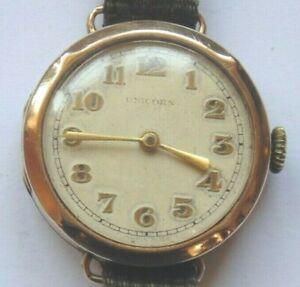Vintage 1940s Rolex Unicorn  9ct solid Gold Cased Ladies Wristwatch