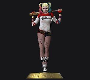 Harley Quinn Suicide Squad Comics Action Figures Model File STL For 3D Printer