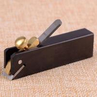 Micro Mini Brass Hand Plane Set Wood Finish Planer Hardwood Hobby Craft Tool