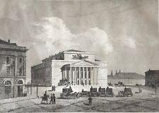 Moscou Russie Москва Moskva vue du grand théâtre impérial gravure 1838