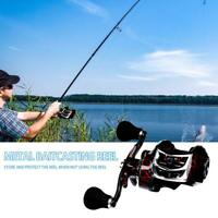 High Speed 7.1:1 Ratio 18+1BB Baitcasting Fishing Reel Metal Low Profile Reel