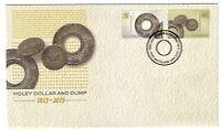 "2013 FDC Australia. Holey Dollar and Dump ""Holey Dollar"" PictFDI""PORT MACQUARIE"""