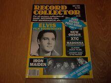 RECORD COLLECTOR MAGAZINE ~ NOVEMBER 1990 ISSUE:135 ELVIS IRON MAIDEN & MORE