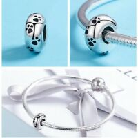 925 Sterling Silver A Dog 's Story Poodle Puppy French Bulldog Beads Charm Fit