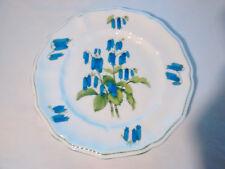 "Crown Staffordshire England Fine China SOMERSET Green Trim Blue Flowers 8.5"""