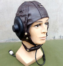Surplus Chinese Air Force Pilot Aviator Cap Hat Size L Leather Hat