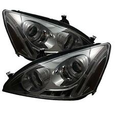 Projector Head Lights Lamps Honda Accord 2003-2007 HALO LED - Smoke