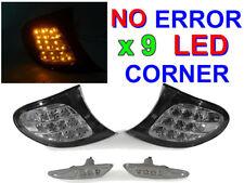 DEPO Amber LED Clear Corner Signal + Side Marker Light For 2002-05 BMW E46 4D/5D