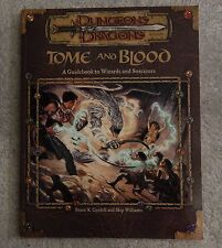 dungeons & dragons Tome and Blood  guidebook to wizards sorcerers     book