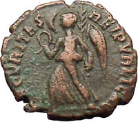 VALENS 364AD Authentic  Ancient Roman Coin Victory Nike Angel  i29815