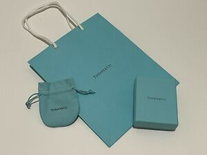 TIFFANY JEWELRY BOX, POUCH AND SHOPPING PACKAGE