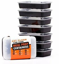 LIFT Certified BPA-Free Reusable Microwavable Meal Prep Containers, 7 Pack