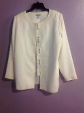 Appraisal Dressy Cream Embellished Pants Suit SZ 16