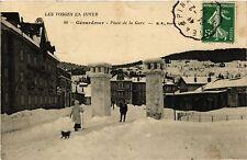 CPA  Les Vosges en Hiver - Gérardmer - Place de la Gare   (455664)