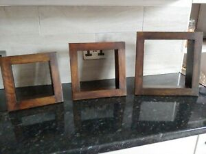 Wooden display boxes x 3, used, good condition