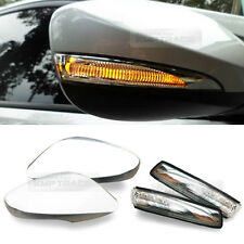 OEM Side Mirror Cover + LED Repeater Crystal White for HYUNDAI 2011-2017 Accent