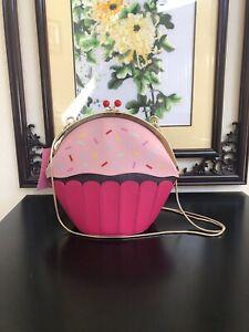 NWT Katespade Katespade take the cake cupcake crossbody Bag  Multi Color