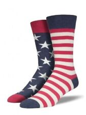 American Flag Crew Socks Stars and Stripes Patriotic Americana Shoe Size 6-12